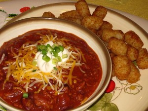 Chili and Tater Tots